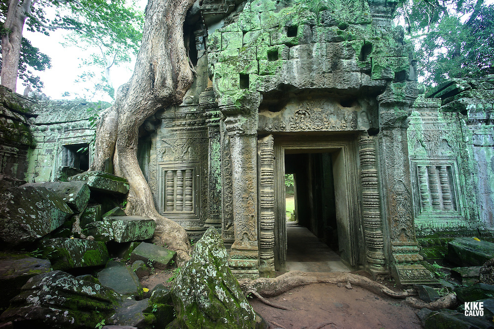Ancient ruins of Ta Prohm Temple, Angkor, Cambodia.    (Kike Calvo via AP Images)