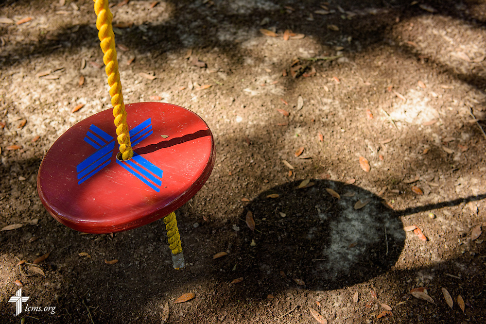 The LCMS logo on a tree swing at Trinity Oaks, a ministry of Trinity Lutheran Church, Baton Rouge, La., on Wednesday, Sept. 14, 2016, in Baton Rouge. LCMS Communications/Erik M. Lunsford