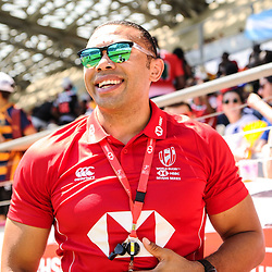 Bryan Habana, South Africa former player during the match between Australia and Kenya at the HSBC Paris Sevens, stage of the Rugby Sevens World Series on June 1, 2019 in Angers, France. (Photo by Sandra Ruhaut/Icon Sport)