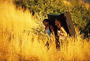 Vanessa Perkins and Joi Matsukawa, Parleys Boulders, Salt Lake City, Utah.