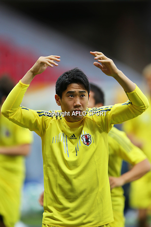 Shinji Kagawa (JPN), <br /> June 14, 2013 - Football / Soccer : <br /> FIFA Confederations Cup Brazil 2013, Official Training <br /> at Estadio Nacional, Brasilia, Brazil. <br /> (Photo by Daiju Kitamura/AFLO SPORT) [1045]
