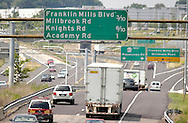 PHILADELPHIA, PA - JUNE 15:  Highway signs on Woodhaven Road direct drivers to Franklin Mills Mall June 15, 2005 in Philadelphia, Pennsylvania. (Photo by William Thomas Cain)