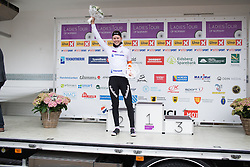 Thalita de Jong (NED) of Rabo-Liv Cycling Team celebrates winning the best young rider's white jersey after the 76,1 km first stage of the 2016 Ladies' Tour of Norway women's road cycling race on August 12, 2016 between Halden and Fredrikstad, Norway. (Photo by Balint Hamvas/Velofocus)
