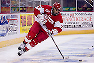 October 13, 2007 - Anchorage, Alaska:  Brian Strait (7) of the Boston University Terriers during game 4 of the Nye Frontier Classic at the Sullivan Arena.  UAA and BU would tie 4-4 giving Robert Morris University the title of Nye Frontier Classic Champion.