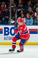 KELOWNA, BC - MARCH 13: Jaret Anderson-Dolan #11 of the Spokane Chiefs skates against the Kelowna Rockets at Prospera Place on March 13, 2019 in Kelowna, Canada. (Photo by Marissa Baecker/Getty Images)
