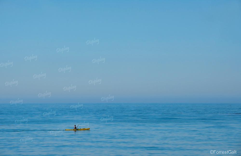 Kayaking in the Pacific Ocean