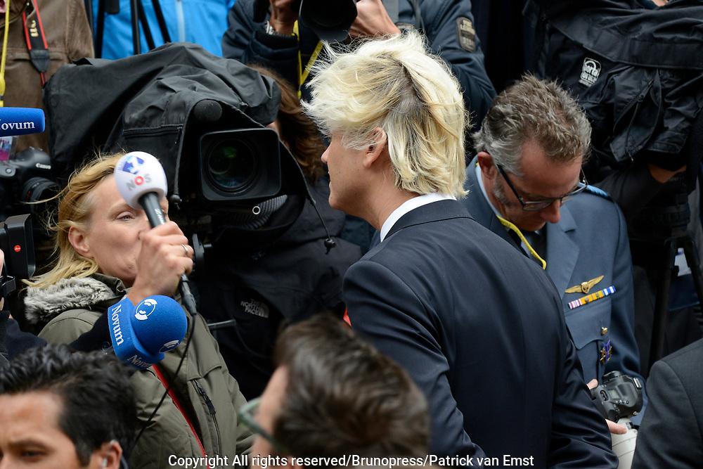 Prinsjesdag 2013 - Aankomst Parlementariërs bij de Ridderzaal op het Binnenhof.<br /> <br /> Op de foto: Tweede Kamerlid Geert Wilders (PVV)