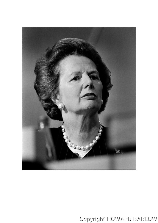 Margaret Thatcher at the Conservative Conference part in Brighton 1988