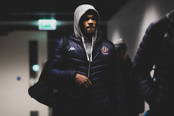 Marcus Delpeche of Bristol Flyers arrives at Copper Box Arena prior to kick off - Photo mandatory by-line: Ryan Hiscott/JMP - 18/12/2019 - BASKETBALL - Copper Box Arena - London, England - London Lions v Bristol Flyers - British Basketball League Championship