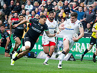 Rugby Union - 2016 / 2017 Guinness Pro12 - Ospreys vs. Ulster<br /> <br /> Jacob Stockdale of Ulster is tackled by the shirt by Josh Matavesi  of Ospreys, at Liberty Stadium.<br /> <br /> COLORSPORT/WINSTON BYNORTH