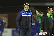 AFC Wimbledon Manager Neal Ardley during the Sky Bet League 2 match between AFC Wimbledon and Dagenham and Redbridge at the Cherry Red Records Stadium, Kingston, England on 24 November 2015. Photo by Stuart Butcher.