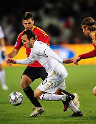 Landon Donovan  during the Semi Final soccer match of the 2009 Confederations Cup between Spain and the USA played at the Freestate Stadium,Bloemfontein,South Africa on 24 June 2009.  Photo: Gerhard Steenkamp/Superimage Media.