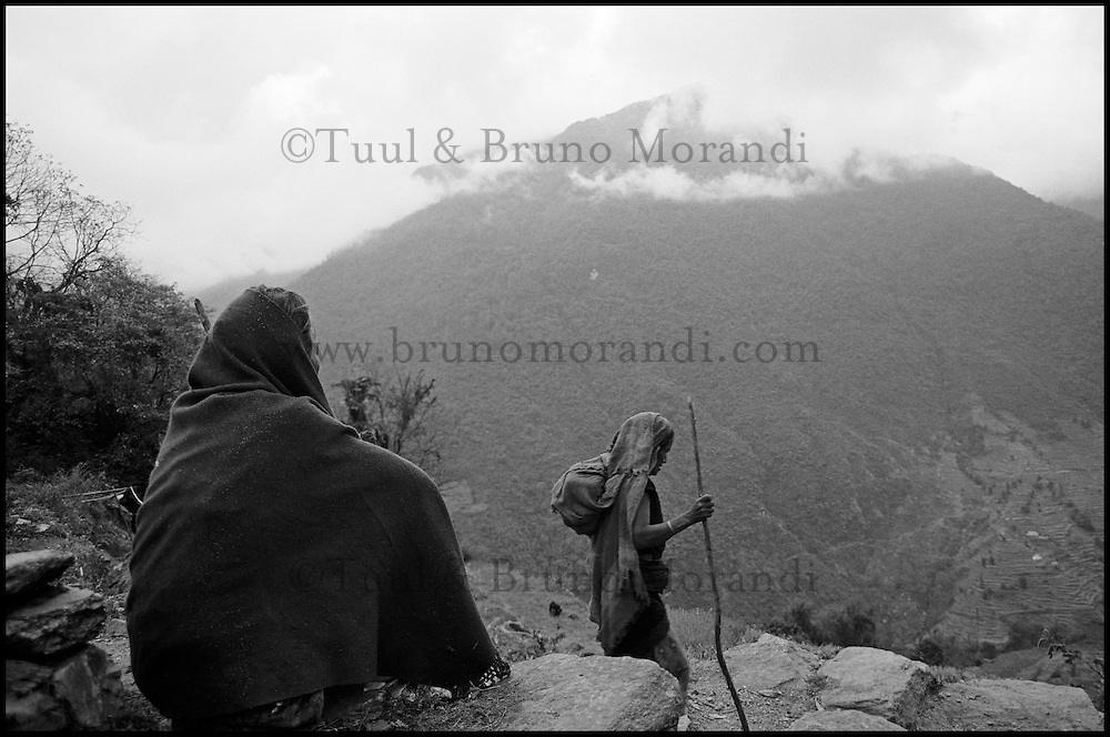 Nepal. Region des Annapurna. Nepal. Annapurna area.
