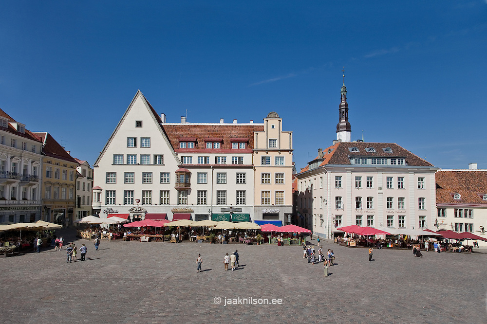 Town Hall Square in Old Medieval Baltic Hansa Tallinn, Estonia