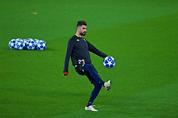 LIVERPOOL, ENGLAND - Monday, December 10, 2018: SSC Napoli's Elseid Hysaj during a training session at Anfield ahead of the UEFA Champions League Group C match between Liverpool FC and SSC Napoli. (Pic by David Rawcliffe/Propaganda)