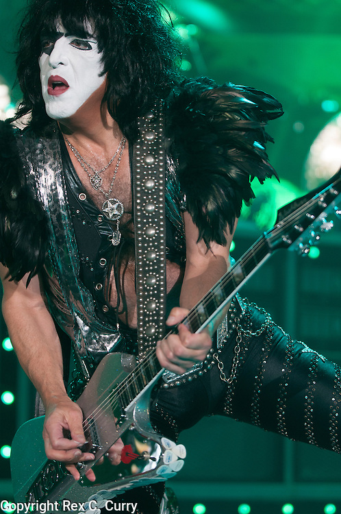 Paul Stanley of Kiss performs at Gexa Energy Pavilion on Saturday, August 4, 2012......(Rex C. Curry/Special Contributor)