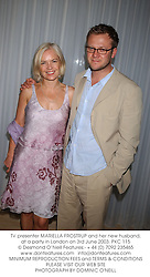 TV presenter MARIELLA FROSTRUP and her new husband, at a party in London on 3rd June 2003.PKC 115