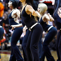 29 January 2012: Miami Heat dancers perform during the Miami Heat 97-93 victory over the Chicago Bulls at the AmericanAirlines Arena, Miami, Florida, USA.