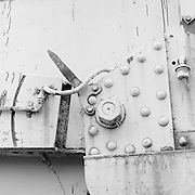 Detail of the X 1055 steam-powered, self-propelled accident crane