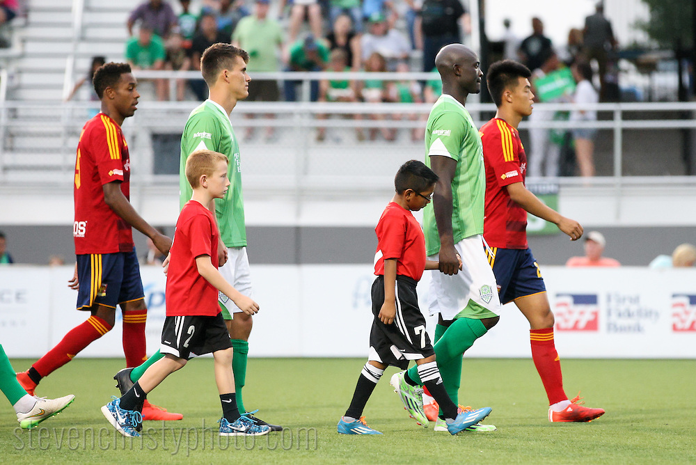 July 31, 2015: The OKC Energy FC plays Arizona United SC in a USL game at Taft Stadium in Oklahoma City, Oklahoma.