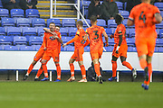 Ipswich Town forward Freddie Sears (20) scores a goal and celebrates during the EFL Sky Bet Championship match between Reading and Ipswich Town at the Madejski Stadium, Reading, England on 10 November 2018.