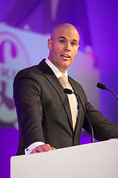 © Licensed to London News Pictures . 25/09/2015 . Doncaster , UK . Dutch MP , JORAM VAN KLAVEREN , speaks at the 2015 UKIP Party Conference at Doncaster Racecourse . Photo credit : Joel Goodman/LNP