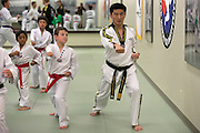 Anthony Grugnale, 9, watches Master Sung C. Kim during a family class at Master Kim's Tae Kwon Do in Penfield on Thursday, August 20, 2015.