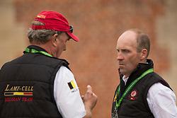 Joris Van Springel, (BEL) and, Captain, Mark, Philips - First Horse Inspection  - Alltech FEI World Equestrian Games™ 2014 - Normandy, France.<br /> © Hippo Foto Team - Dirk Caremans<br /> 25/06/14