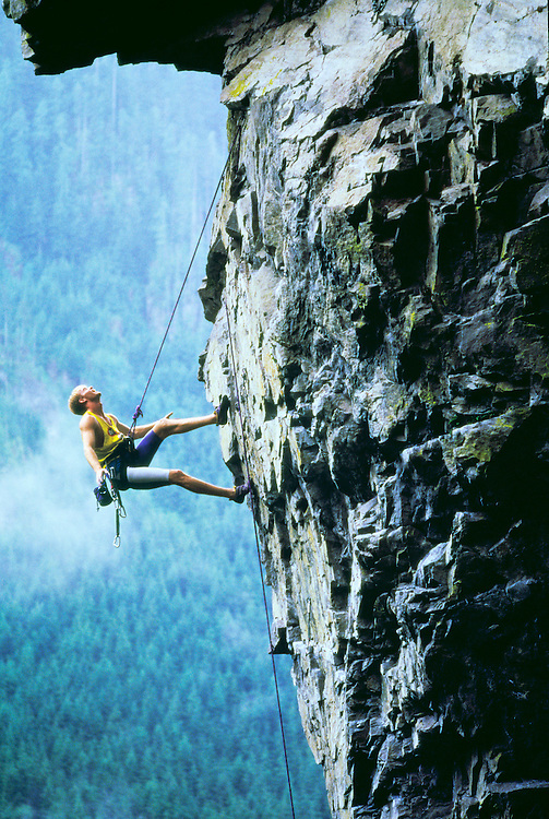 Brian Cullen Climbing at a crag called Northfork, on the Snoqualmie River North Fork
