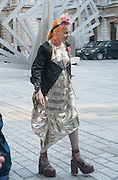 VIVIENNE WESTWOOD;  Celebration of the Arts. Royal Academy. Piccadilly. London. 23 May 2012.