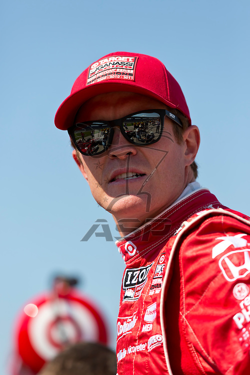 Ft WORTH, TX - JUN 08, 2012:  Scott Dixon (9) prepares to qualify for the Firestone 550 race at the Texas Motor Speedway in Fort Worth, TX.
