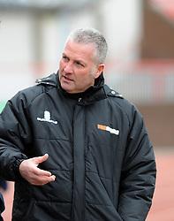 Gateshead Manager, Gary Mills - Photo mandatory by-line: Neil Brookman/JMP - Mobile: 07966 386802 - 28/02/2015 - SPORT - Football - Gateshead - Gateshead International Stadium - Gateshead v Bristol Rovers - Vanarama Football Conference