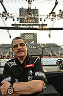 "ABU DHABI, UNITED ARAB EMIRATES, APRIL 10, 2010: Jacob ""Stitch"" Duran stands next to the octagon ahead of ""UFC 112: Invincible"" inside Ferari World, Abu Dhabi on April 10, 2010"