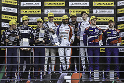 October 22, 2017 - Portimao, PORTUGAL - 40 GRAFF (FRA) ORECA 07 GIBSON LMP2 JAMES ALLEN (AUS) GUSTAVO YACAMAN (COL) RICHARD BRADLEY (GBR) WINNER OVERALL #32 UNITED AUTOSPORTS (USA) LIGIER JSP217 GIBSON LMP2 WILLIAM OWEN (USA) HUGO SADELEER (CHE) FILIPE ALBUQUERQUE (PRT) SECOND PLACE OVERALL #27 SMP RACING (RUS) DALLARA P217 GIBSON LMP2 MATEVOS ISAAKYAN (RUS) EGOR ORUDZHEV (RUS) THIRD PLACE OVERALL (Credit Image: © Panoramic via ZUMA Press)