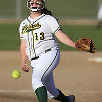 Leigh #13 Haley Castro pitches vs Branham in a pre season girls varsity softball game at Leigh High School, San Jose CA on 3/7/18. (Photograph by Bill Gerth)