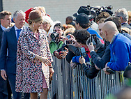 Lelystad , 20-04-2017 <br /> <br /> Queen Maxima opens Child Restaurant Van Harte in Lelystad.<br /> <br /> <br /> COPYRIGHT: ROYALPORTRAITS EUROPE/ BERNARD RUEBSAMEN