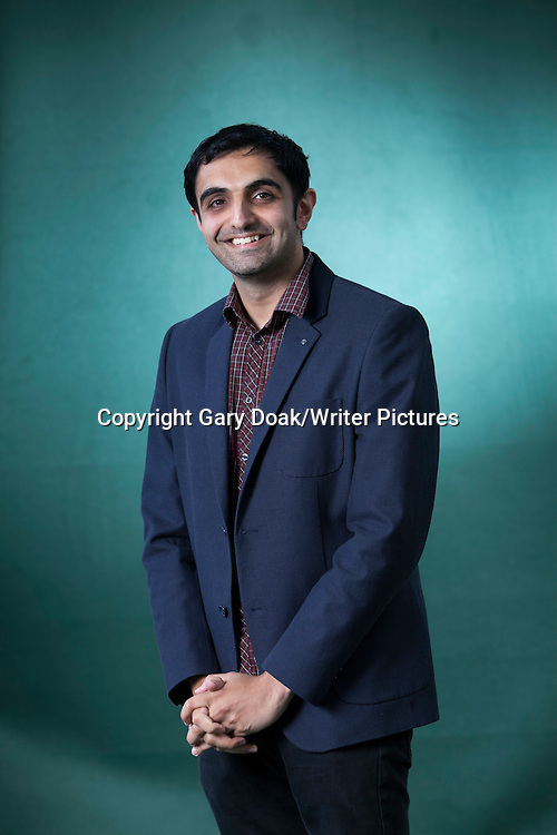Sunjeev Sahota, the British novelist, at the Edinburgh International Book Festival 2015.<br /> Edinburgh, Scotland. 25th August 2015 <br /> <br /> Photograph by Gary Doak/Writer Pictures<br /> <br /> WORLD RIGHTS
