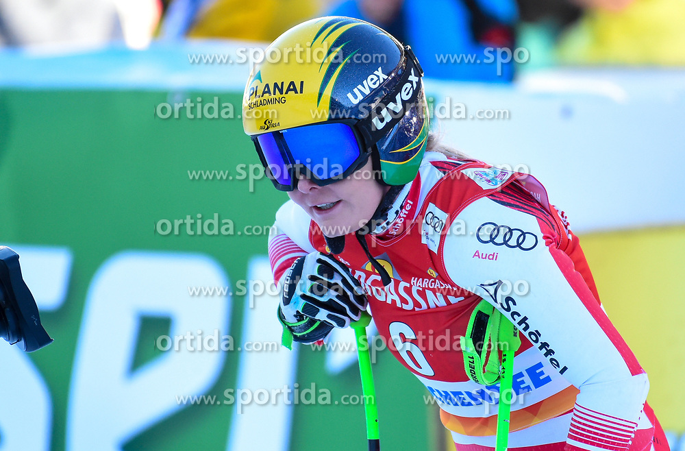 26.10.2019, Keelberloch Rennstrecke, Altenmark, AUT, FIS Weltcup Ski Alpin, Abfahrt, Damen, 2. Training, im Bild Tamara Tippler (AUT) // Tamara Tippler of Austria reacts after her 2nd training run for the women's Downhill of FIS ski alpine world cup at the Keelberloch Rennstrecke in Altenmark, Austria on 2019/10/26. EXPA Pictures © 2020, PhotoCredit: EXPA/ Erich Spiess