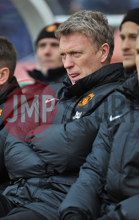Manchester United Manager, David Moyes - Photo mandatory by-line: Alex James/JMP - Tel: Mobile: 07966 386802 01/02/2014 - SPORT - FOOTBALL - Britannia Stadium - Stoke-On-Trent - Stoke v Manchester United - Barclays Premier League