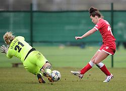 Bristol Academy's Angharad James scores  - Photo mandatory by-line: Joe Meredith/JMP - Mobile: 07966 386802 - 01/03/2015 - SPORT - Football - Bristol - SGS Wise Campus - Bristol Academy Womens FC v Aston Villa Ladies - Women's Super League