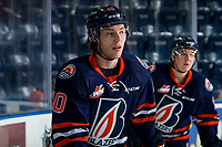 KELOWNA, BC - FEBRUARY 23: Jeff Faith #40 of the Kamloops Blazers warms up against the Kelowna Rockets at Prospera Place on February 23, 2019 in Kelowna, Canada. (Photo by Marissa Baecker/Getty Images)