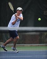 Oxford High's Zach Wilder vs. Saltillo in tennis at Avent Park on Mondday, March 29, 2010 in Oxford, Miss.