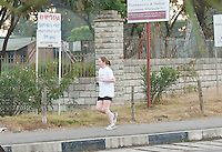 24/11/2013 repro free Ciara Moran from Roscommon  taking part in the Great Ethiopian run in Hawassa as opposed to the Capital Addis Ababa due to a security threat, part of a group of 20 from Ireland who ran the race in aid of Self Help Africa. Photo:Andrew Downes
