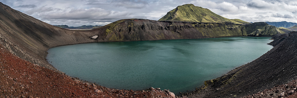 Bláhylur is near Landmannalaugar. The mountain in the background is Tjörfafell.
