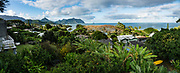 Kaneohe Bay, island of Oahu, Hawaii, USA. This image was stitched from multiple overlapping images.
