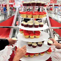Cupcakes and other complimentary refreshments were popular during the grand opening of Target at the Capitola Mall in Capitola, California on July 24.<br />