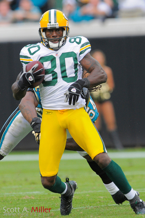 Jacksonville, FL. -- Green Bay Packers wide receiver Donald Driver (80) during the Packers game against the Jacksonville Jaguars on Dec. 14, 2008 at Jacksonville Municipal Stadium....©2008 Scott A. Miller