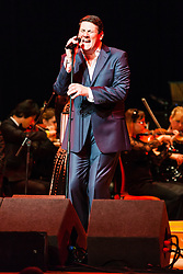 Tony Hadley in concert at the Symphony Hall, Birmingham, United Kingdom<br /> Picture Date: 15 October, 2013