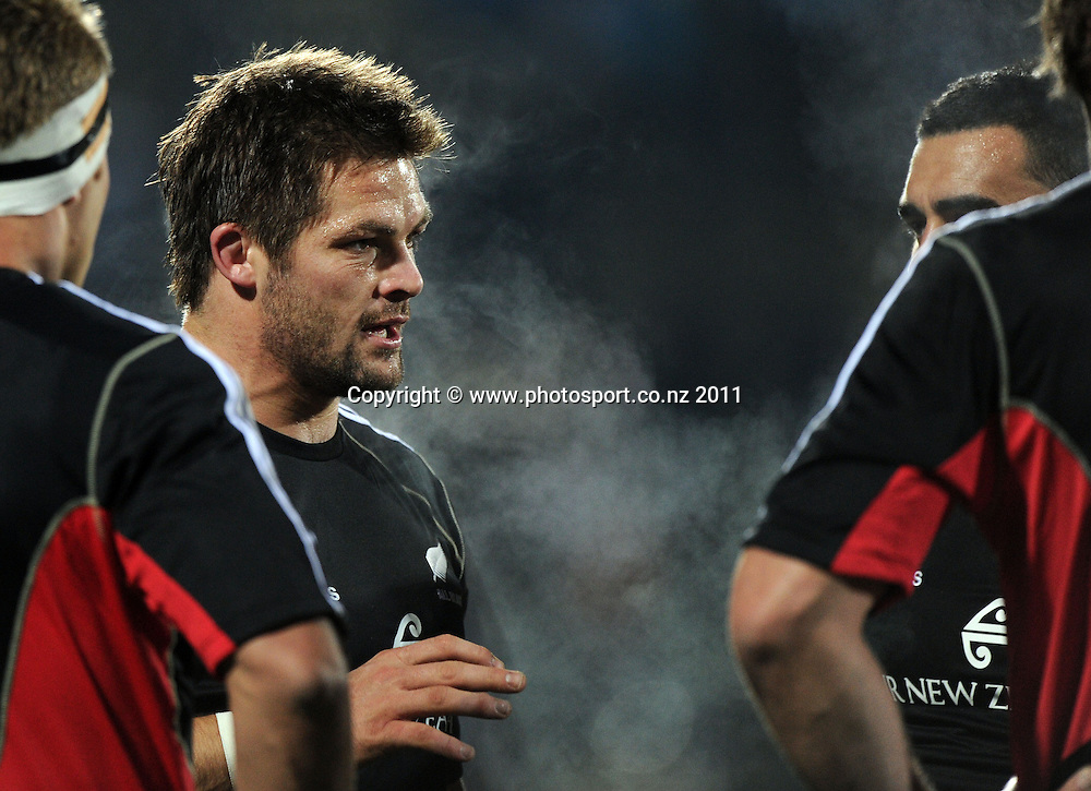 All Blacks captain Richie McCaw. All Blacks v Fiji. Rugby union test match at Carisbrook, Dunedin, New Zealand on Friday 22 July 2011 Photo: Andrew Cornaga/Photosport.co.nz