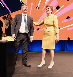 SNP Spring Conference, Sunday 28th April 2019<br /> <br /> Pictured: First Minister Nicola Sturgeon and Keith Brown MSP<br /> <br /> Alex Todd | Edinburgh Elite media